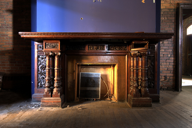 Hand-carved Fireplace Mantel