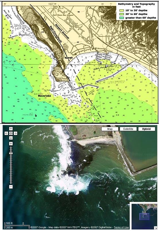 Pillar Point and Geography of Mavericks
