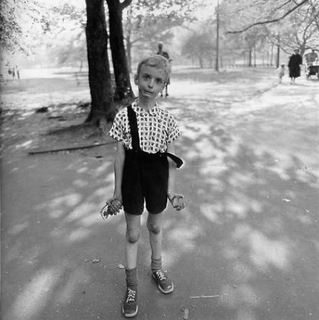 Boy with Hand Grenade - by Diane Arbus