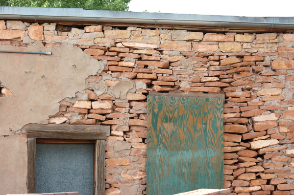 The back of the Bucket of Blood Saloon is beginning to show its 120-year old age.
