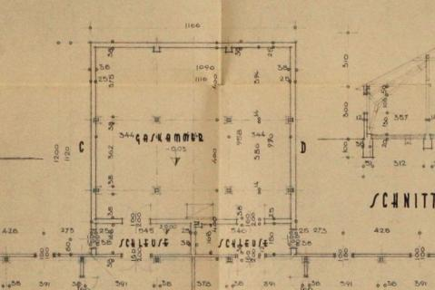 The gas chamber architectural drawing for Auschwitz, recently discovered.