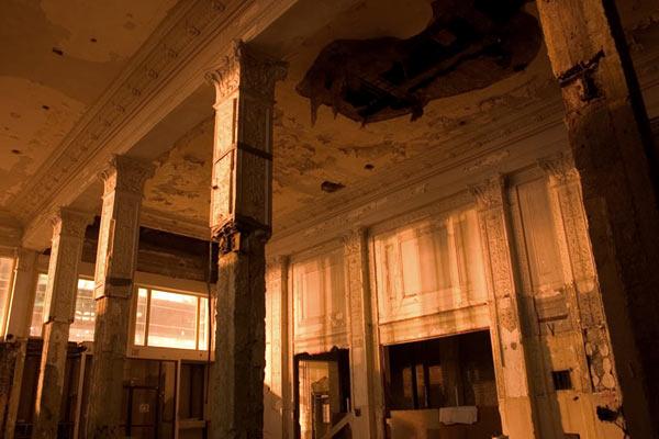 Pillars in Lobby