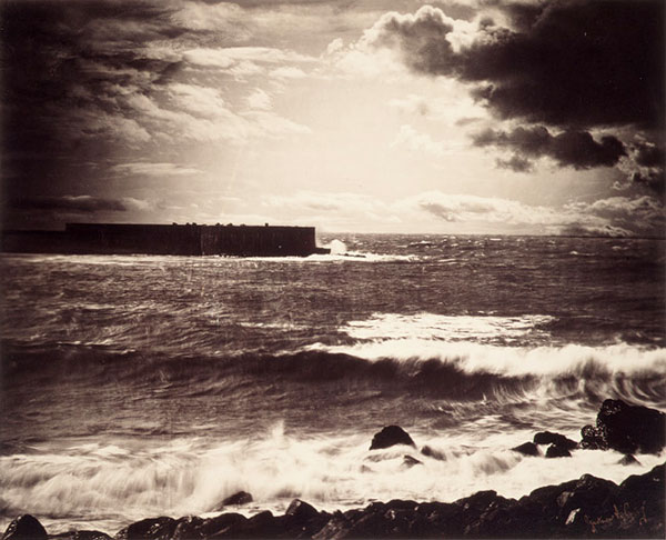 """Gustave Le Gray's """"The Great Wave,"""" recently sold for $830,000, and was listed as one of the top ten most expensive photographs of all time."""