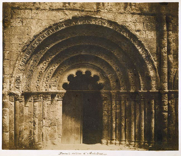An image of a church entry by Hippolyte Bayard