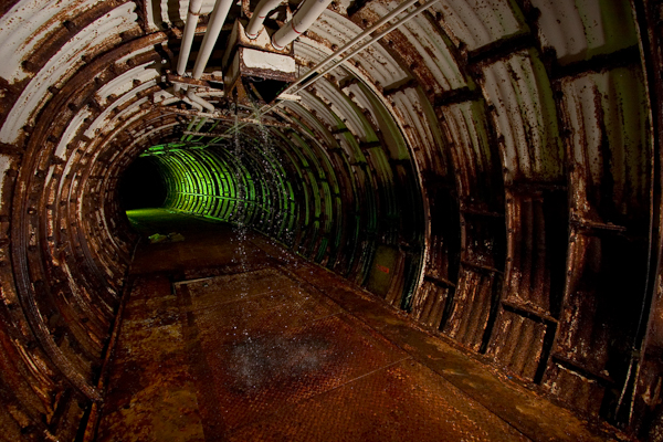 This is the Tunnel leading to the orginal (now exploded) Titan 1 Operational Systems Test Facility on Vandenberg