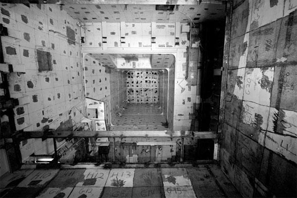 """Vertigo"" - the once-radioactive modified hull of the U.S.S. Holland a Vietnam-era submarine tender - © Amy Heiden"